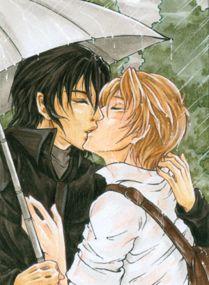 Yaoi - Example of shōnen-ai artwork, originally published at Animexx