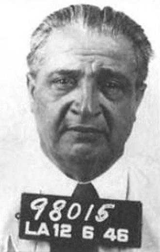 Jack Dragna - Mugshot of Dragna in 1946.