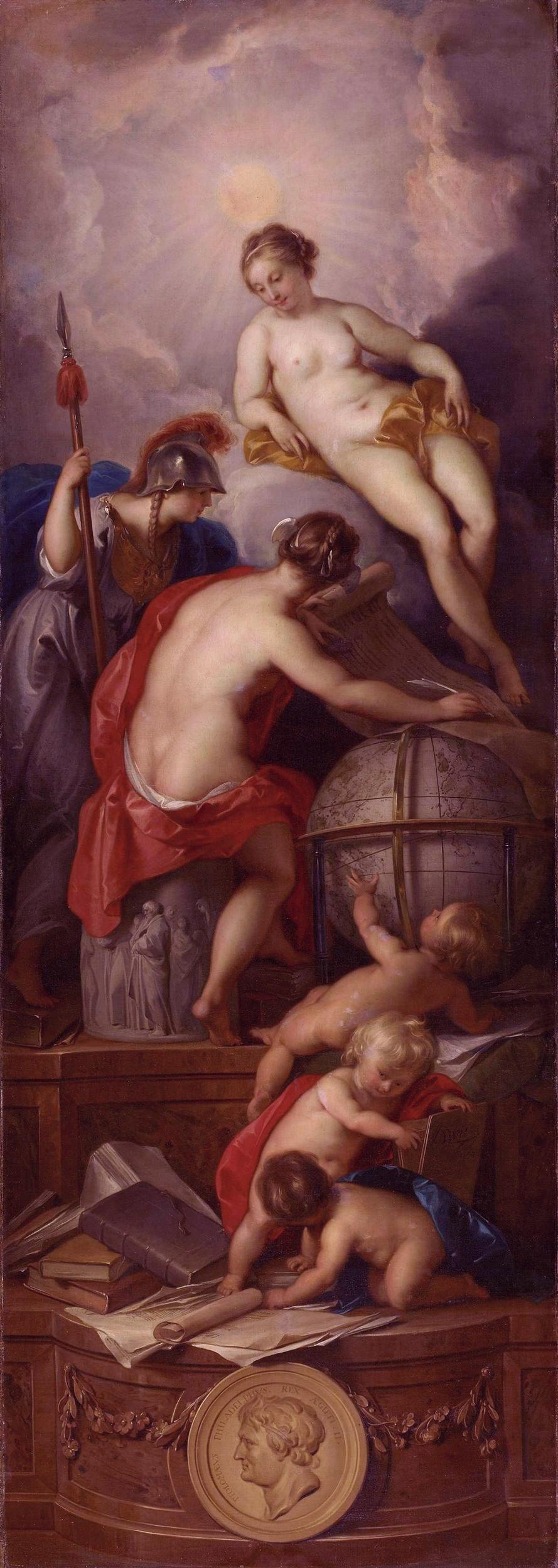 Jacob de Wit - Allegorie op het schrijven van de geschiedenis 1754