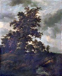 Jacob van Ruisdael: A hunter in a wooded landscape