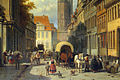 Jacques Carabain - Busy Street in a German Town - detail.jpg