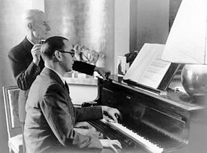 Piano Concerto for the Left Hand (Ravel) - Maurice Ravel with Jacques Février playing the Piano Concerto for the Left Hand in Paris in 1937