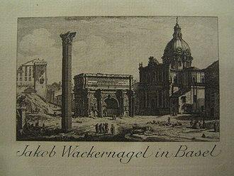 Jacob Wackernagel - Ex Libris, 1897