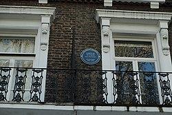 Photo of James D. Watson blue plaque