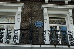 Photo of James Watson blue plaque