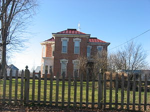 National Register of Historic Places listings in Jay County, Indiana - Image: James Haines Farmhouse