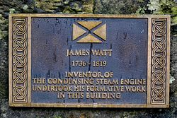 James watt plaque at kinneil