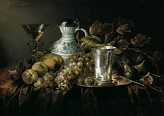 Fruit Still Life with a Silver Beaker, 1648