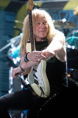 No Prayer for the Dying - Guitarist Janick Gers replaced Adrian Smith during the album's preproduction stages.