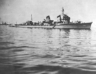 Japanese destroyer Amagiri (1930) - Pre-World War II USN file photo of Amagiri