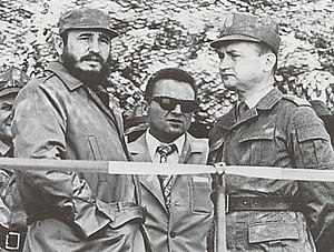 Tintin and the Picaros - Cuban revolutionary Fidel Castro (left, photographed in 1972) was a partial inspiration for the story