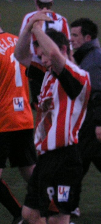 Jay Tabb - Tabb applauding the Brentford supporters in February 2005.