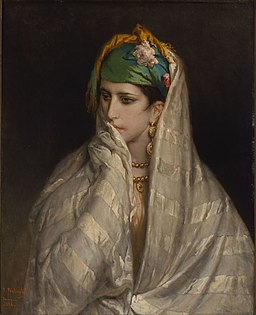 Jean-François Portaels - Portrait of a young North-African woman