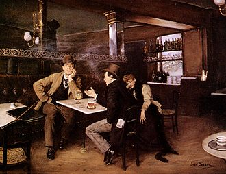 Bistro - At the Bistro, Jean Béraud