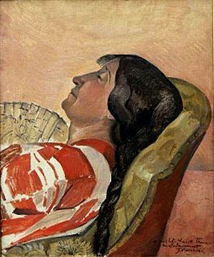 Jean Marchand (painter) - Image: Jean MARCHAND (1882 1941) 'La sieste d'Henriette Tirman'