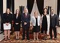 Jefa de Estado recibe las Cartas Credenciales de los nuevos embajadores de Arabia Saudita, Indonesia, Finlandia, Irán, Nueva Zelanda, Irlanda y de San Vicente y las Granadinas (16450665770).jpg