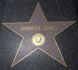 Jennifer Jones - Jones' star on the Hollywood Walk of Fame at 6429 Hollywood Boulevard