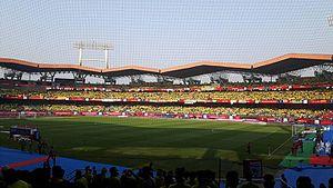 Jawaharlal Nehru Stadium (Kochi) - Image: Jewharlal Nehru Stadium Kochi ISL 2016 Final