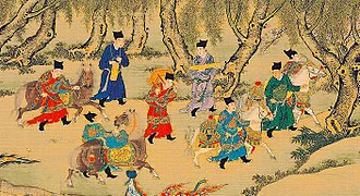 Embroidered Uniform Guard - Several Jinyiwei guarding the Emperor's treasures.