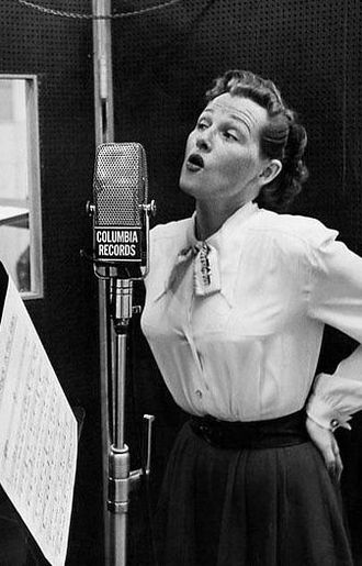 Smoke Gets in Your Eyes - Image: Jo Stafford Paul Weston in studio 1952 (cropped)