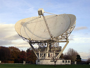 Jodrell Bank Observatory - The Mark II radio telescope.