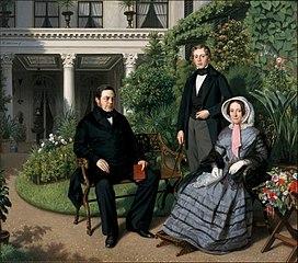 Portret van de familie Metelerkamp