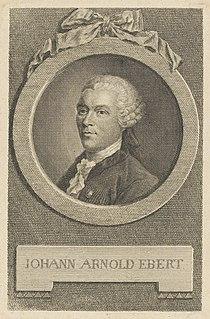 Johann Arnold Ebert German writer and translator