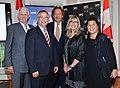 John Carmichael, MP; Gary Goodyear, Minister of State; Slawko Klykiw; Christina Jennings, Chair, CFC Board of Directors; Ana Serrano @ Canadian Film Centre.jpg