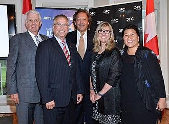 Gary Goodyear - Image: John Carmichael, MP; Gary Goodyear, Minister of State; Slawko Klykiw; Christina Jennings, Chair, CFC Board of Directors; Ana Serrano @ Canadian Film Centre