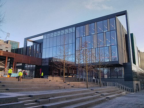 The front of the new John Henry Brookes building.