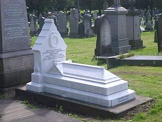 John Hulley - John Hulley's grave in June 2009 after renovation