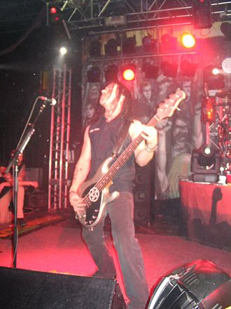 John Moyer - John Moyer performing with Disturbed at the Starland Ballroom in late 2005
