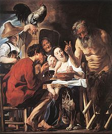 Jordaens Satyr and the peasant Brussels.jpg