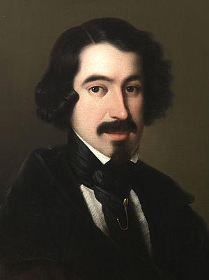 José de Espronceda - Portrait by Antonio María Esquivel (c.1845)