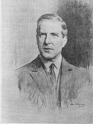 Joseph Watson, 1st Baron Manton - Joseph Watson, 1st Baron Manton. Portrait sketch by John A M Hay, 1923