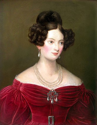 Princess Ludovika of Bavaria - Image: Joseph Karl Stieler (attribuito) Portrait of Ludovica Princess of Bavaria, Duchess in Bavaria