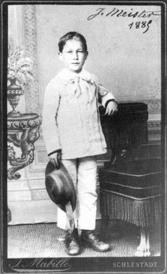 Joseph Meister - Joseph Meister in 1885