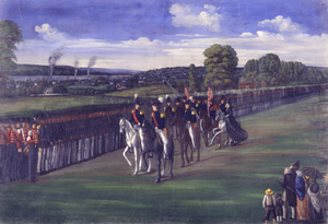 "Nauvoo Legion - ""Joseph Mustering the Nauvoo Legion"" by C.C.A. Christensen"