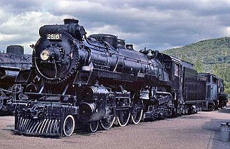 4-6-4 - Canadian Pacific Railway no. 2816 at Steamtown in Vermont