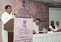 Jual Oram addressing at the inauguration of the Conference of State Tribal Welfare Ministers Principal Secretaries Secretaries to evolve strategies for overall development of tribal communities, in New Delhi.jpg