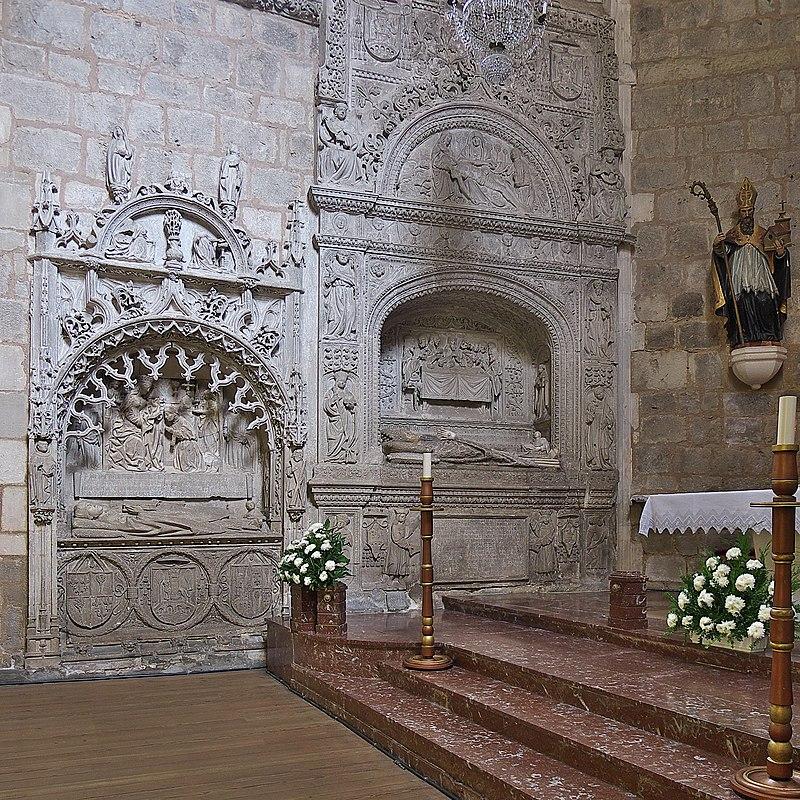Juan de Ortega, obispo (Convento de Santa Dorotea, Burgos). Sepulcro.jpg