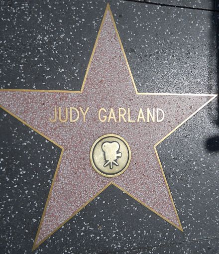 Star for recognition of film work at 1715 Vine Street on the Hollywood Walk of Fame: She has another for recording at 6764 Hollywood Boulevard. Judy Garland star HWF.JPG