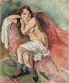 JulesPascin-1911-Suzanne Sitting on a Couch.png