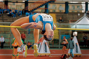 2003 Military World Games - Action from the women's high jump in the track and field competition