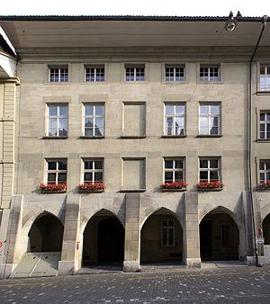 Béatrice-von-Wattenwyl-Haus - The main entrance of the Béatrice-von-Wattenwyl-Haus (north façade)