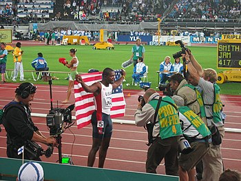 Justin Gatlin in Helsinki, 10th IAAF World Cha...
