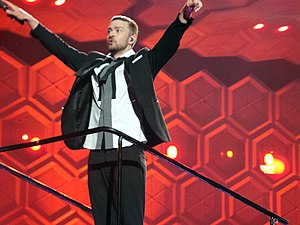 Love Yourself - Bieber became the first male artist since Justin Timberlake (pictured) in 2006 to achieve three number-ones in the US from an album.