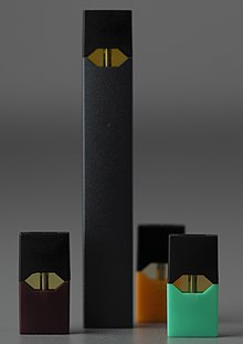 Juul vaping device with pods (cropped).jpg