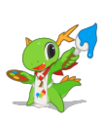 KDE mascot Konqi for graphics applications.png