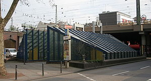 Köln Hansaring station - Northern access to the Stadtbahn station under the railway bridge